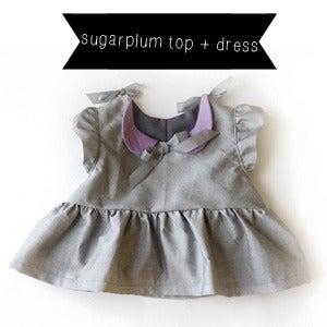 Image of THE SUGARPLUM top + dress PDF pattern