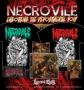 Image of NECROVILE - Engorging The Devourmental Void - CD/TS deal