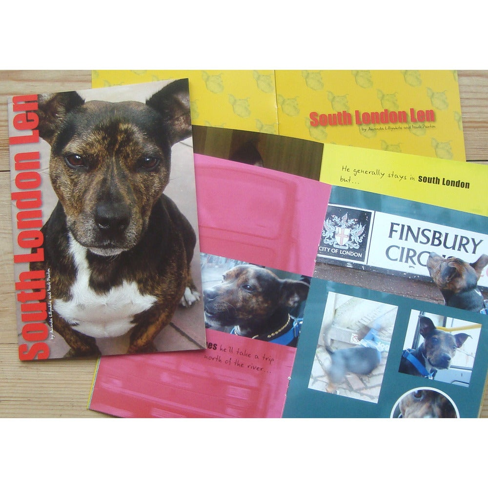 Image of South London Len - a zine about a dog by Amanda Lillywhite and Mark Panton