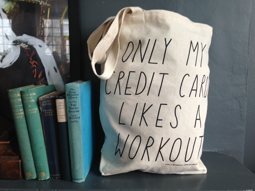 Image of Only my credit card likes a work out Tote Bag