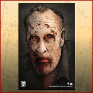 "Image of Michael Rooker ""Walking Dead"" Numbered Print"