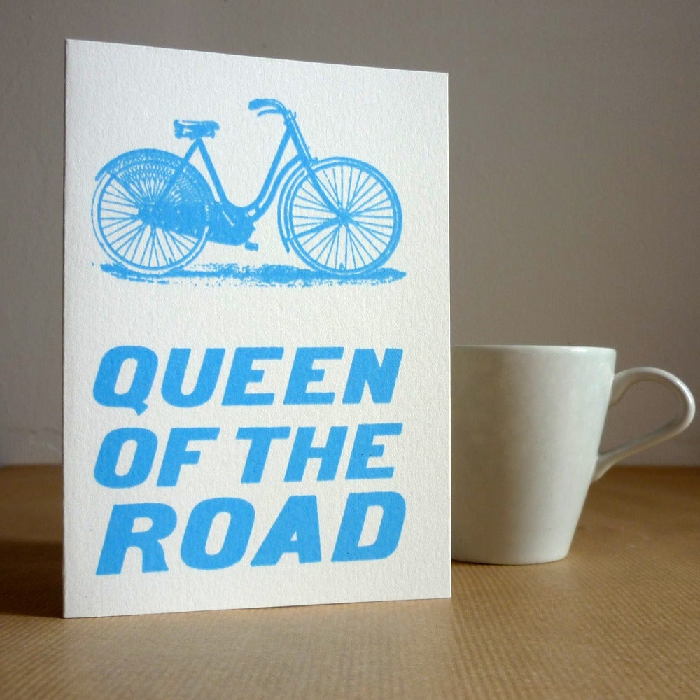 Image of Queen of the Road bicycle card