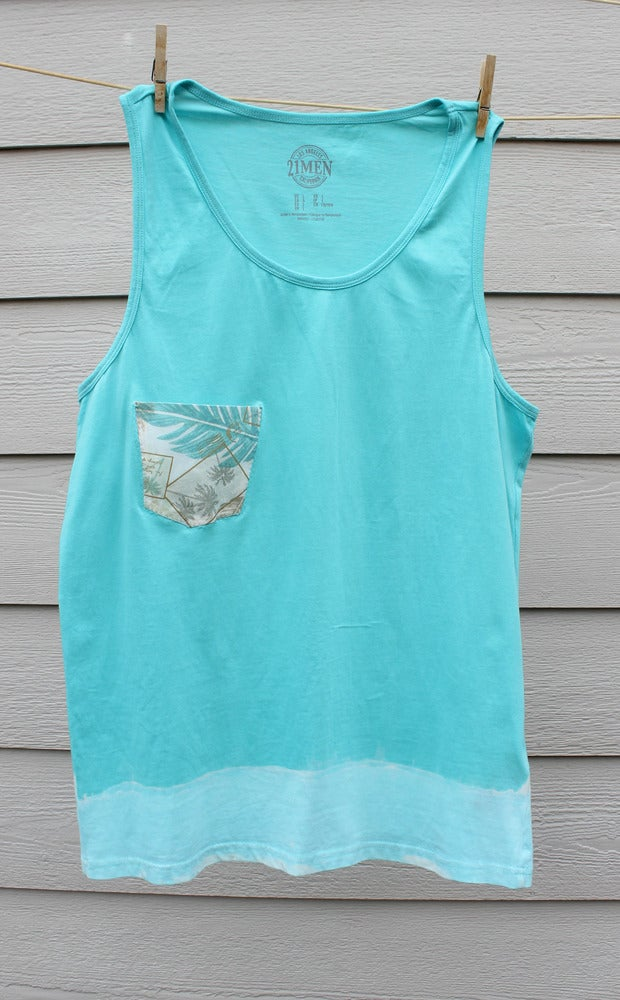 Image of The Bombie Surf Dipped Mens Tank + Pocket
