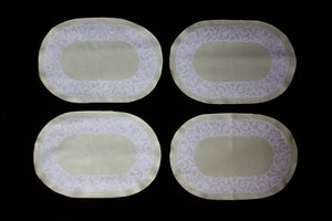 "Image of Placemats, Sage ""Floral Burnout"" Set of 4"