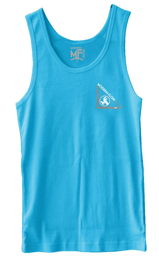 Image of Modern Flow Classic Tank (Neon Heather Blue)
