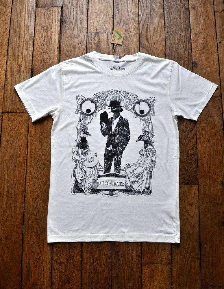 Image of Au Contraire T-Shirt Black & White
