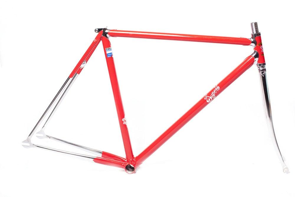 Image of Superb Vivace Track Frameset, Gloss Red w/Chrome Fork