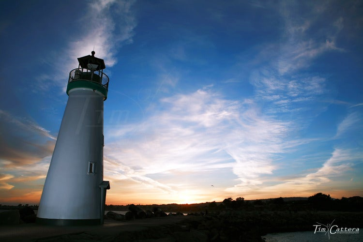 Image of Sunset at the Harbor Lighthouse