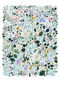 Image of Morning Frost Meadow -print