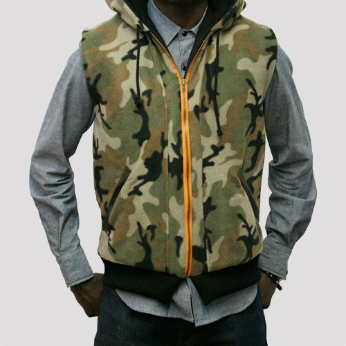 Image of Camou Fleece Hunting Vest