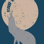 Image of 2nd DAY CRUSH Howling Wolf T-shirt