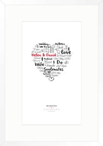 Image of wedding day print (white)