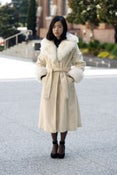 Image of Vintage Camel Faux Fur Coat