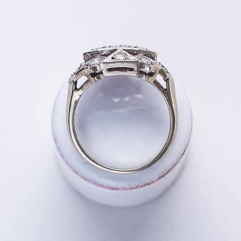 Image of Antique 1900's Diamond Cluster Ring