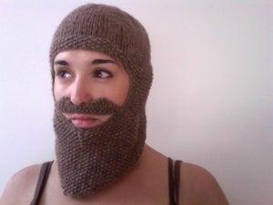 Image of Knitted Beard Balaclava