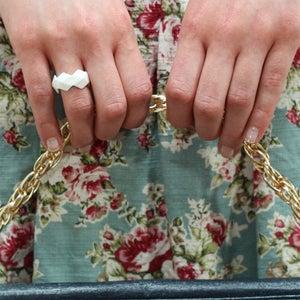 Image of Reversed Diamond Bone China Ring