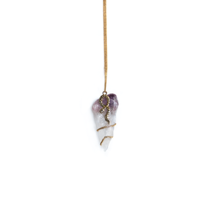 Image of Amethyst & Golden Snake Necklace