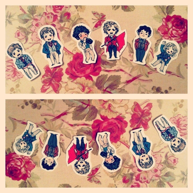 Image of les amis stickers (set a)
