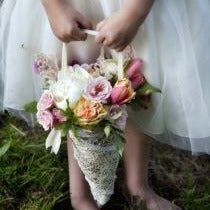 Image of Flower Girl Cone Basket