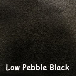 "Image of Black Leather Strap 1"" (inch) Wide - Low Pebble Black Leather - Your Choice of Length & Hardware #2"