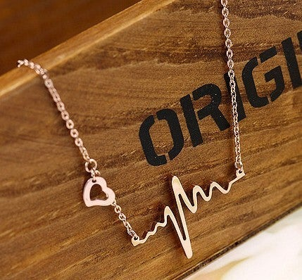 Image of [grxjy5100184]Personalized ECG necklace