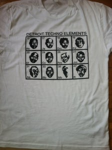 Image of Faces of Detroit Techno/ white tee