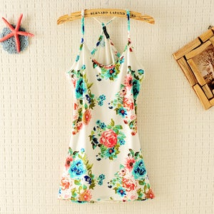 Image of Vintage Flower Flexible Vest For Summer
