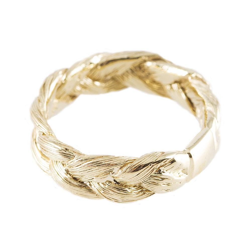 Image of MAGNITUDE PLAIT RING [GOLDEN BLOND]