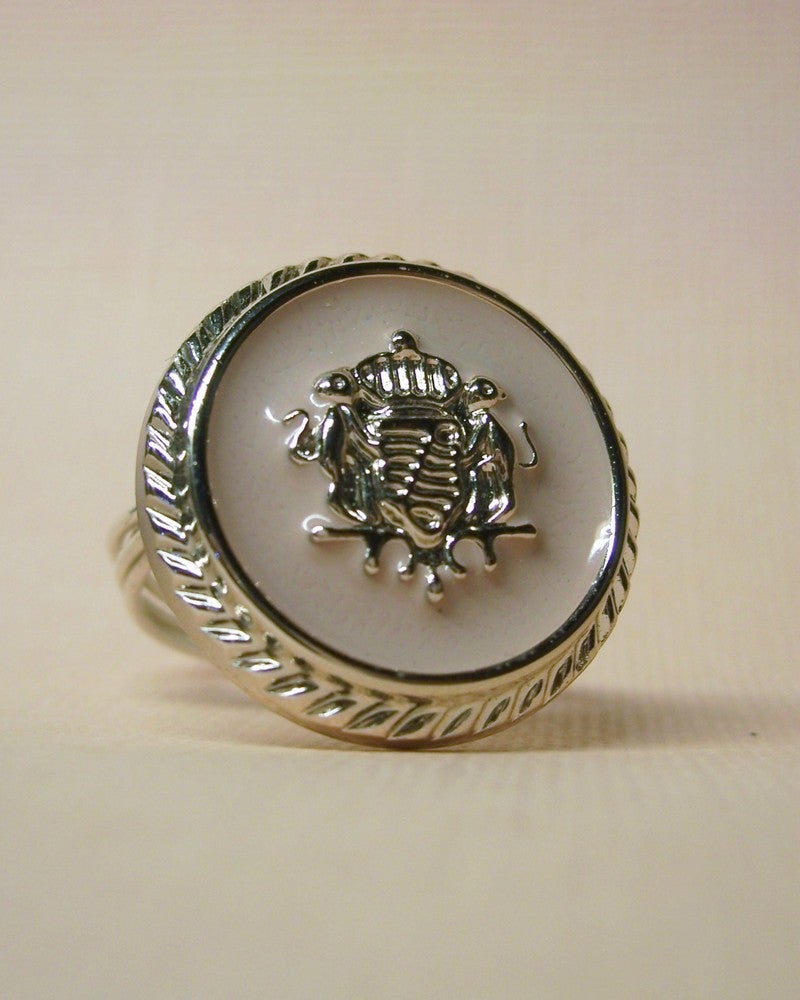 "Image of ""Her Royal Highness"" vintage-style button ring"