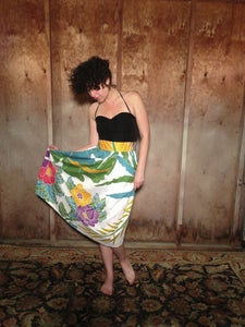 Image of Tropical Floral skirt