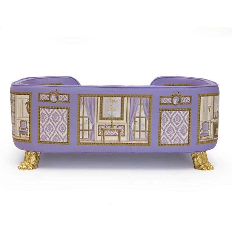 Canape baron haussan violet puppy de paris for Nettoyage canape tissu non dehoussable