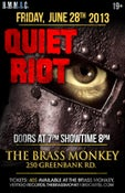 Image of QUIET RIOT - Friday, June 28, 2013 @ The Brass Monkey