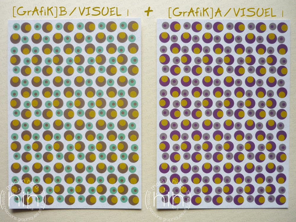 Image of 2 cartes mix [GrAfiK] A+B