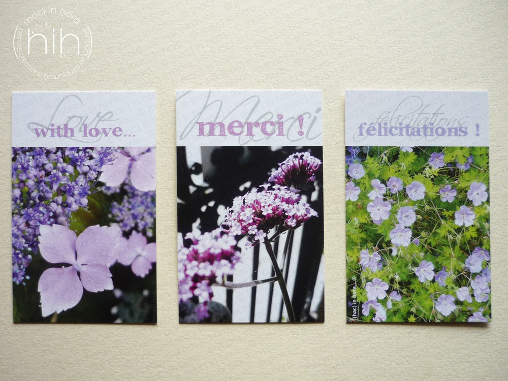 Image of petites cartes ✿flora✿ with Love...