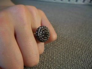 "Image of ""Unexpected"" vintage button ring"