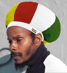 Image of Jah Roots Stretch Hats (Ital-White, Yellow, Red, & Green)
