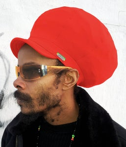 Image of Jah Roots Stretch Hats With Beak (Red)