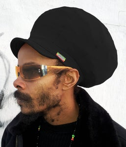 Image of Jah Roots Stretch Hats With Beak (Black)