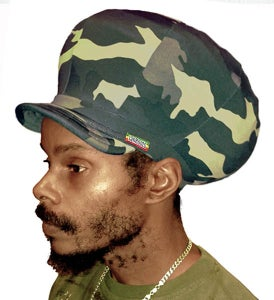 Image of Jah Roots Stretch Hats With Beak (Camo)