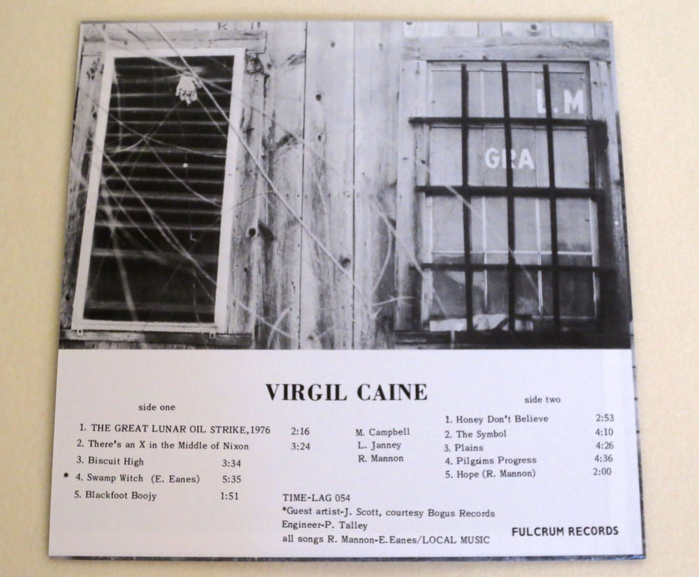 Image of VIRGIL CAINE ~ VIRGIL CAINE aka THE GREAT LUNAR OIL STRIKE, 1976 ~ lp (TIME-LAG 054)