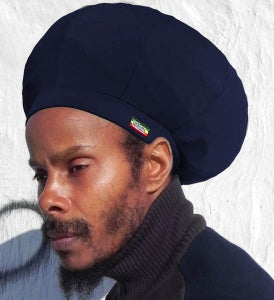 Image of Jah Roots Stretch Hats (Navy)
