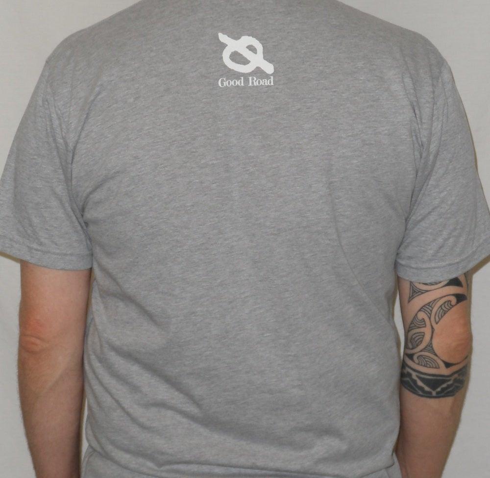 "Image of ""San Diego 1994"" [Antioch Arrow] MEN'S Shirt (Grey)"