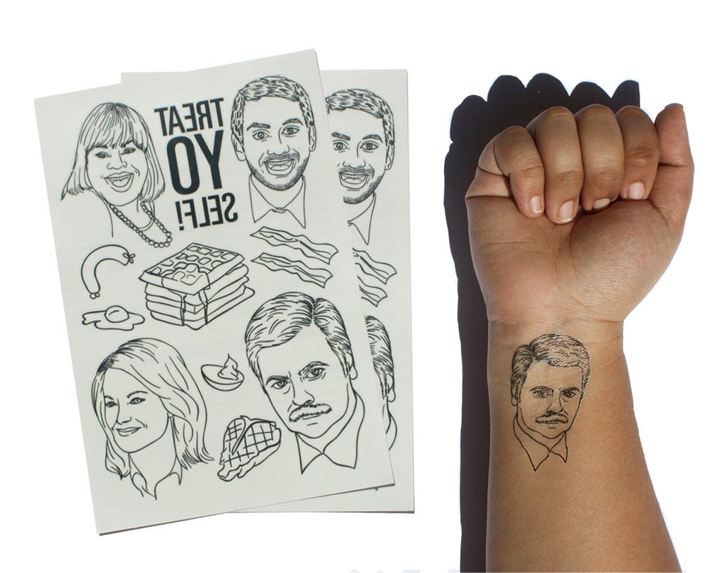 Image of Parks & Rec - Temporary Tattoos