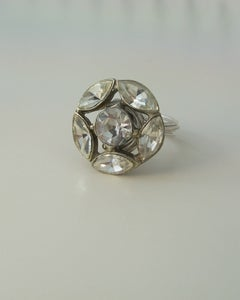 """Image of """"The Marquis"""" vintage button ring"""
