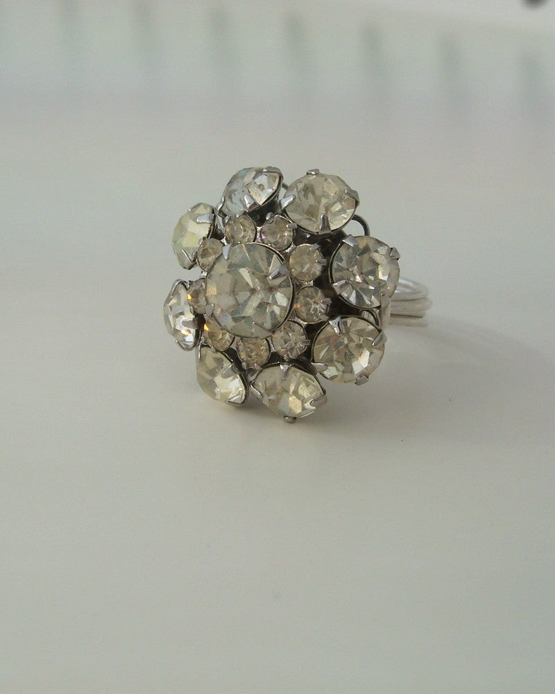 "Image of ""The Winter Queen"" vintage button ring"