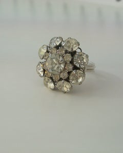 """Image of """"The Winter Queen"""" vintage button ring"""