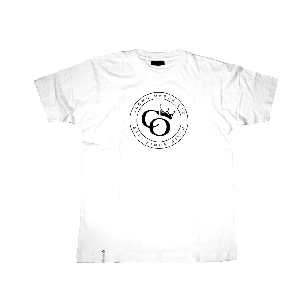 Image of White Tee X Crown Order LTD