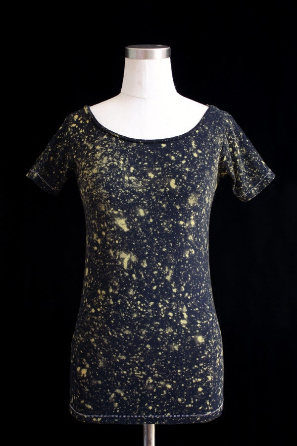 """Image of Shirt, Black """"The Universe is Expanding"""" Pattern"""