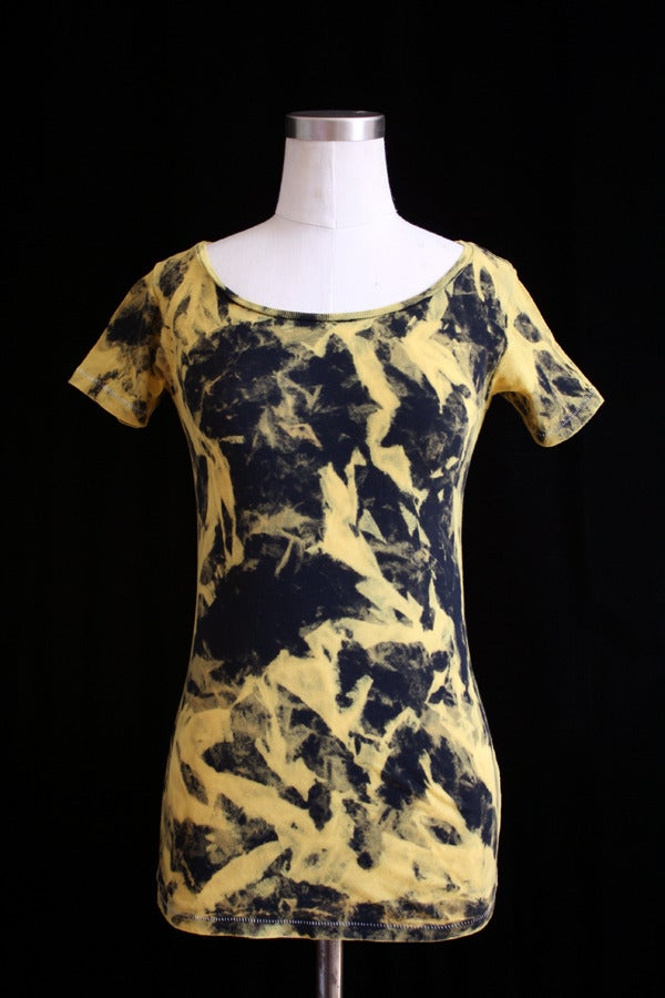 "Image of Shirt, Black ""Magmatic Earthquake"" Pattern"