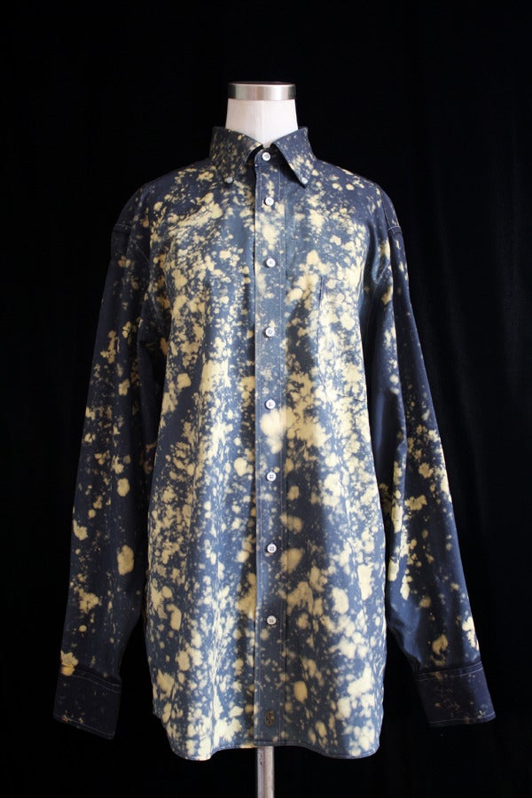 """Image of Dress Shirt, Black """"The Universe is Expanding"""" Pattern"""